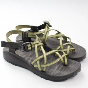 Chaco green strappy sport sandal adjustable strap